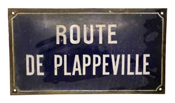 French Route de Plappeville Sign - Vintage Signs