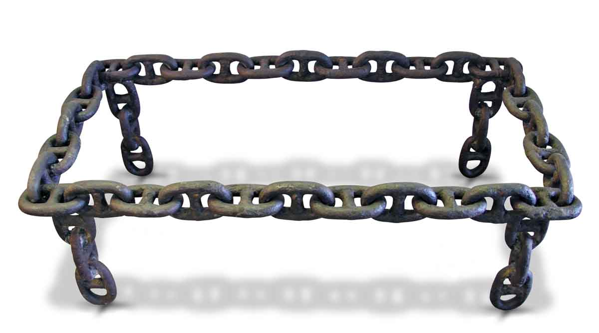 Attrayant Rectangular Antique Iron Nautical Chain Link Table