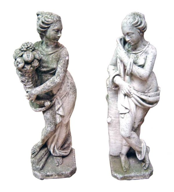 Lady Cement Garden Statues - Statues & Fountains
