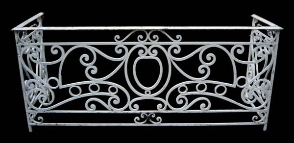 Painted White Iron Balcony - Balconies & Window Guards