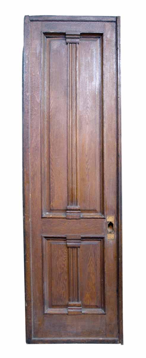 Tall Oak & Walnut Victorian Style Door - Standard Doors
