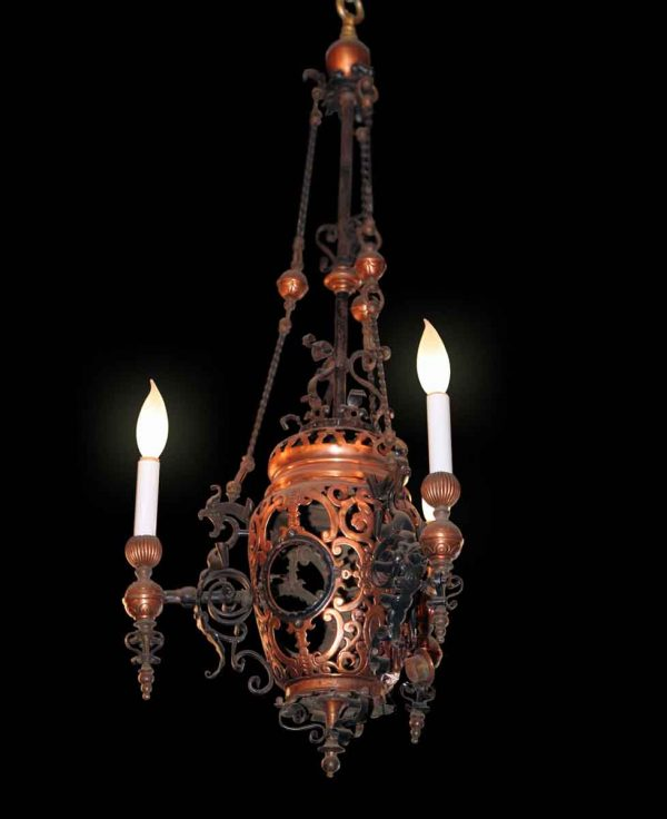 Bronze Detailed Chandelier - Chandeliers