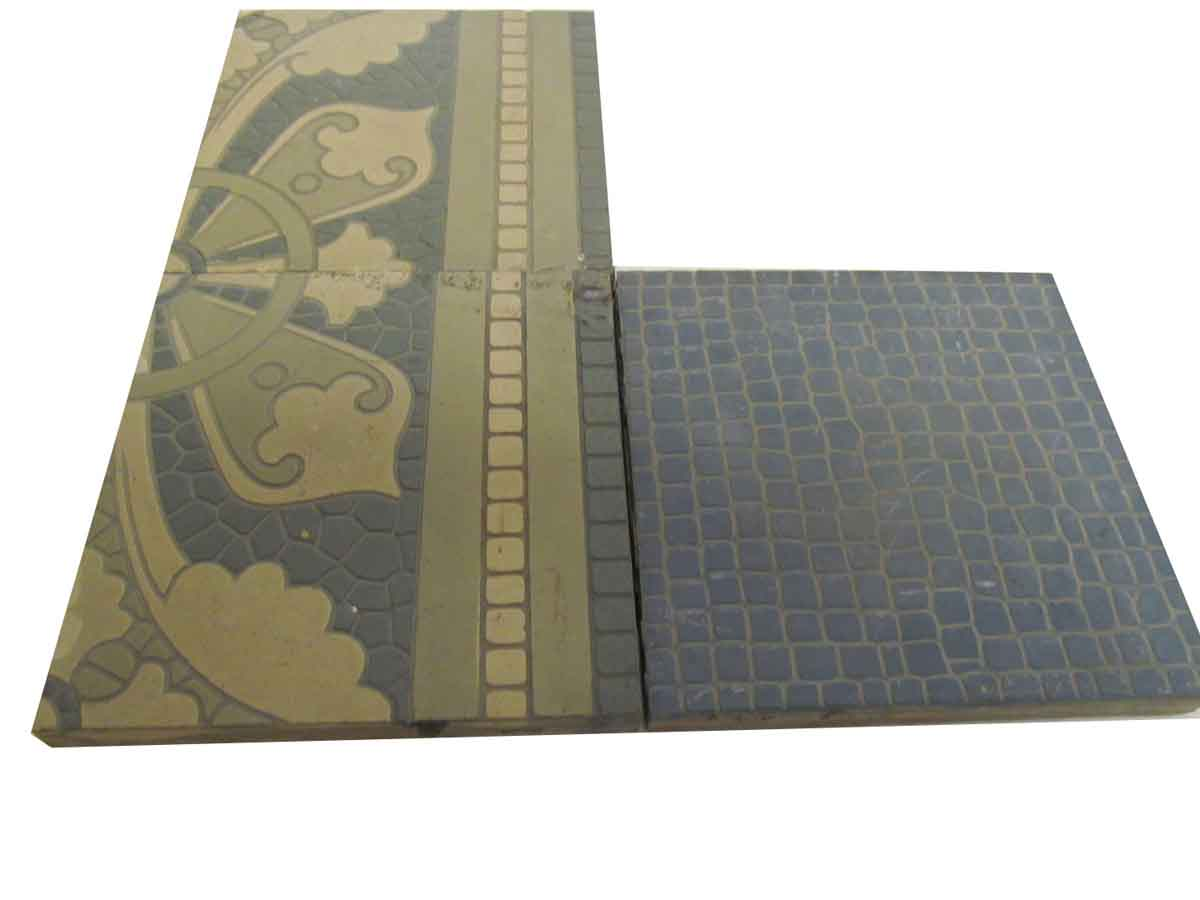 Villeroy Boch Salvaged Encaustic Floor Tile Tiles