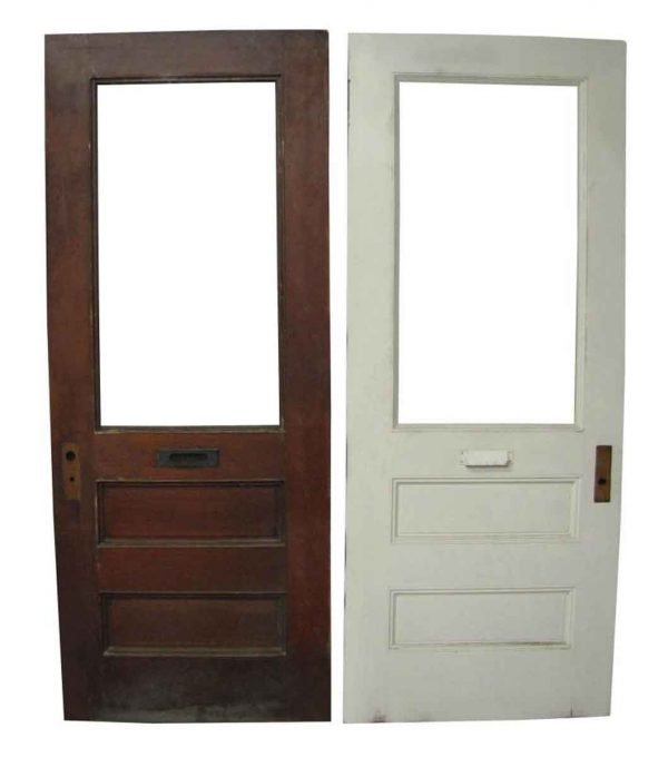 Oak Doors with a Panel for Glass - Commercial Doors