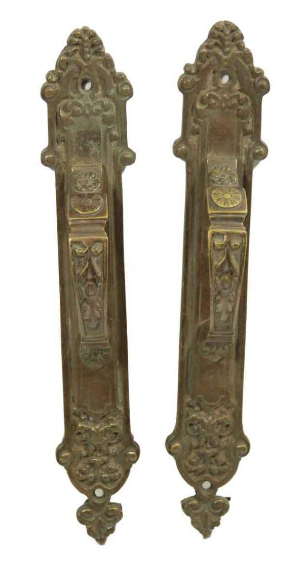 Pair of Ornate French Door Pulls - Door Pulls