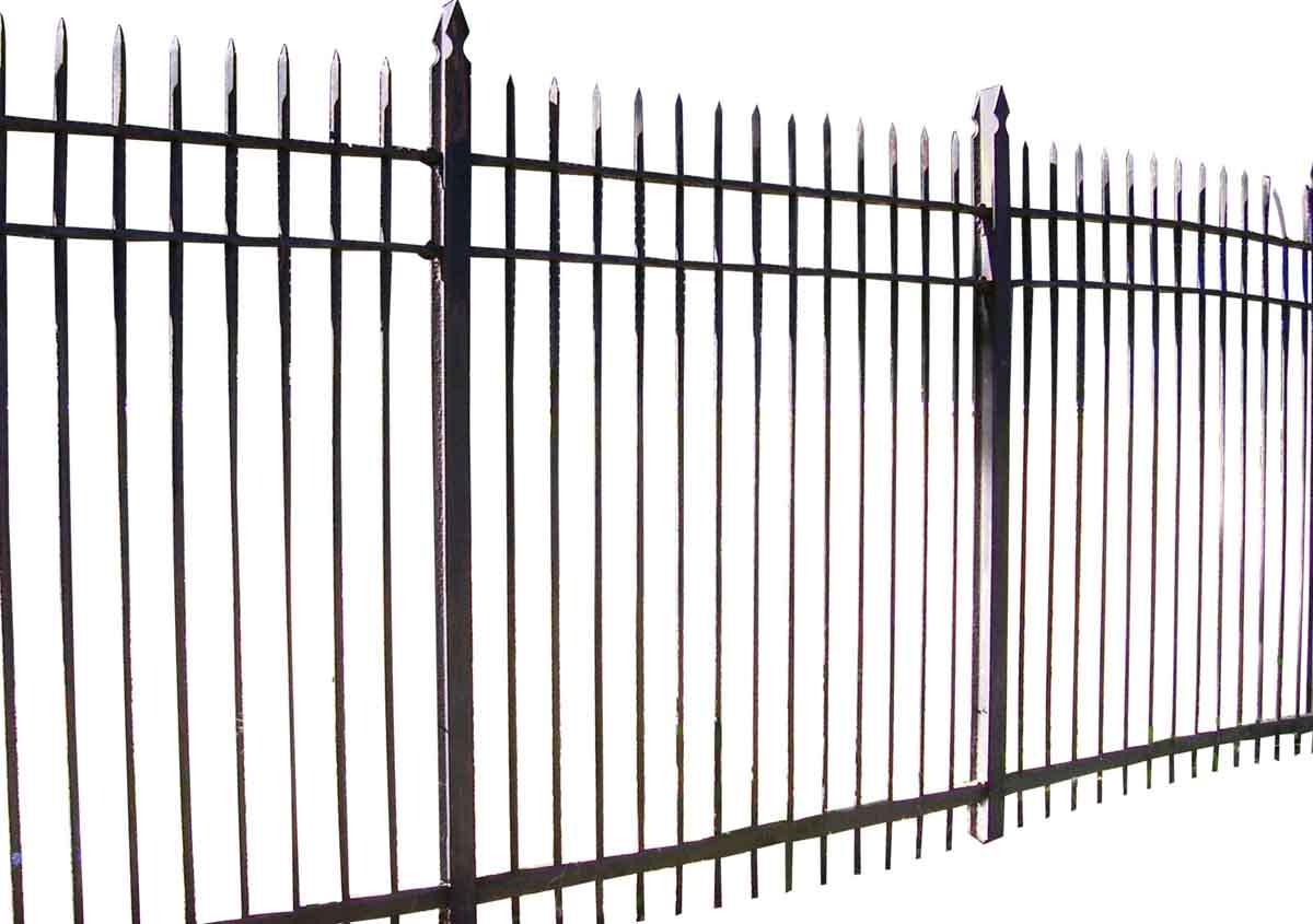 7 ft. High Wrought Iron Fence - Fencing