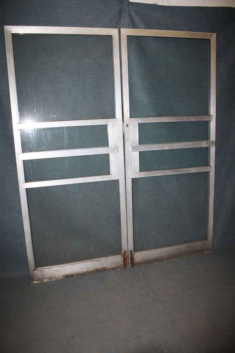 Double Commercial Glass Doors With Aluminum Frame Olde
