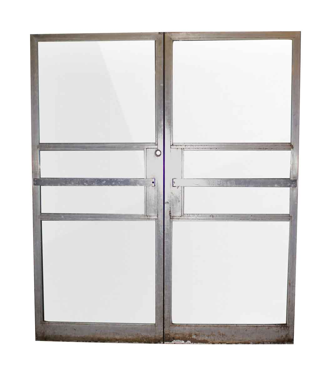 Double commercial glass doors with aluminum frame olde for Double glazed glass panels