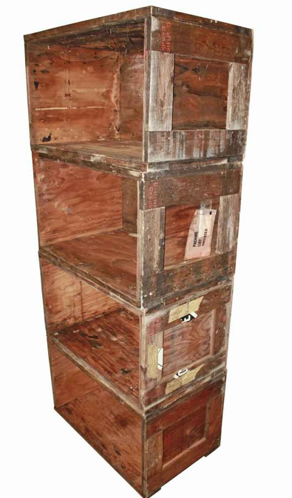 Vintage Pine Stacking Crates For Book Case - Barrels & Crates
