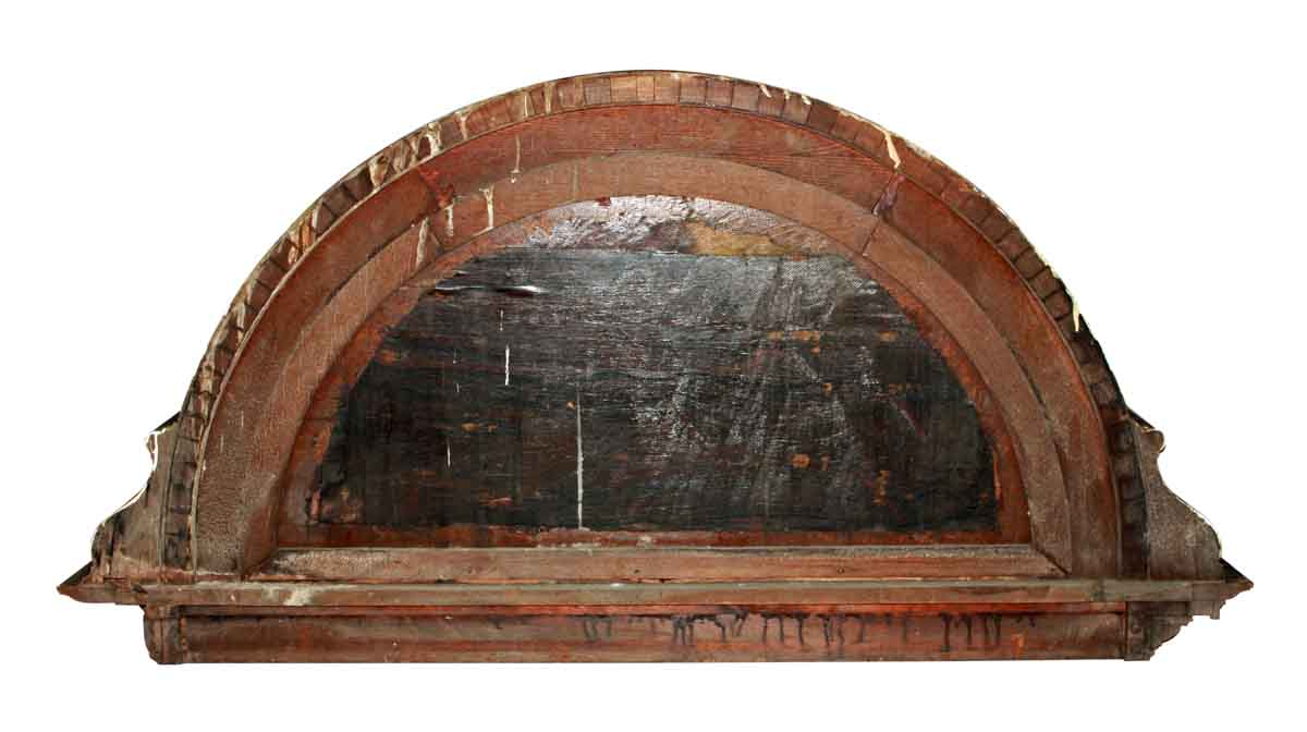 Carved Wood Demi Lune Door Pediment Olde Good Things