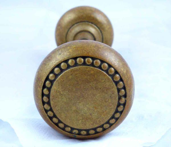 Entry Doorknob Set with Beaded Design  - Door Knobs