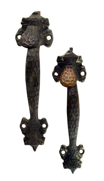 Pair of Bronze Thumb Latch Door Pulls - Door Pulls