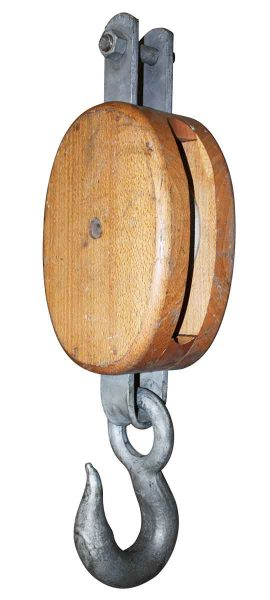 Wooden Ship Pulley - Nautical Antiques
