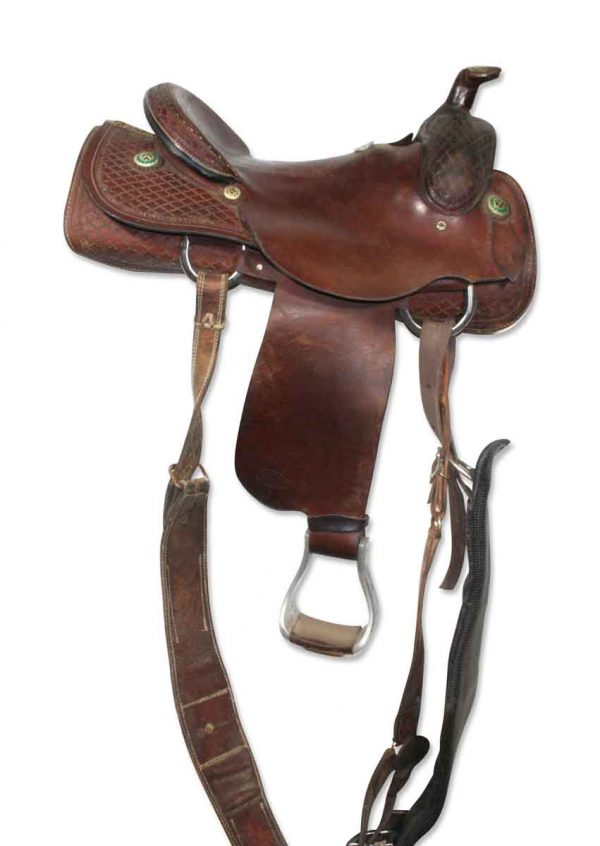 Vintage Leather Horse Saddle - Sporting Goods
