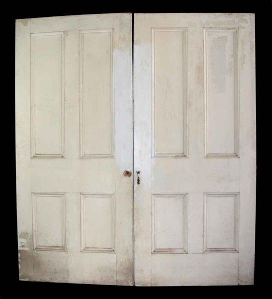 Four Vertical Panel Double Doors - Standard Doors