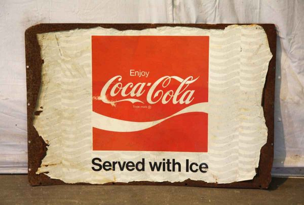 Antique Coca Cola Metal Sign - Vintage Signs