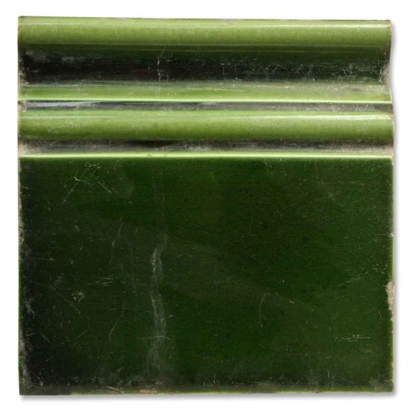 Dark Green Wall Trim Tile - Bull Nose & Cap Tiles