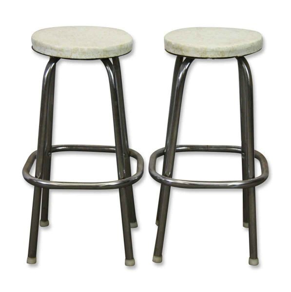 Vinyl Stools with Round White Top - Seating