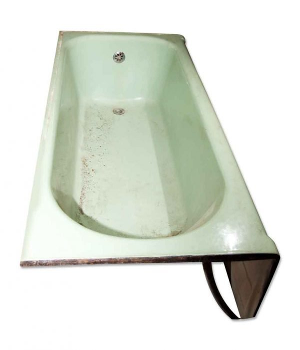 Antique Sea Foam or Mint Green Skirt Bathtub - Bathroom