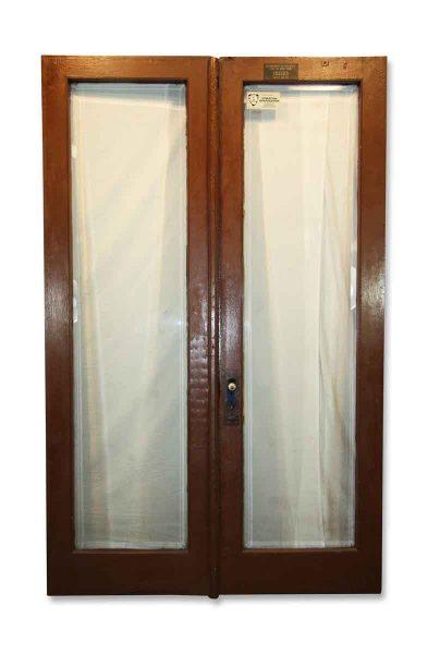 Simple Design Antique Beveled Glass Double Entry Doors - Standard Doors