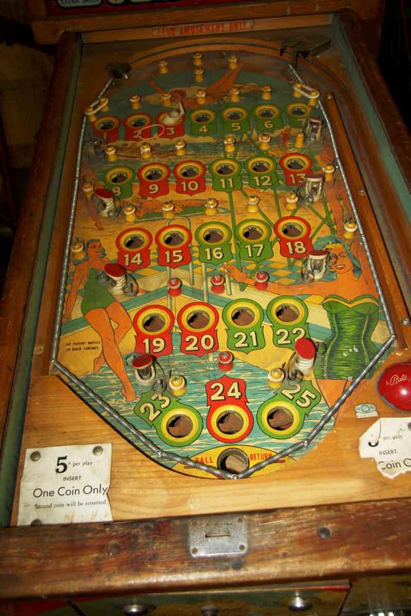 1950s Vintage Pinball Machine Olde Good Things