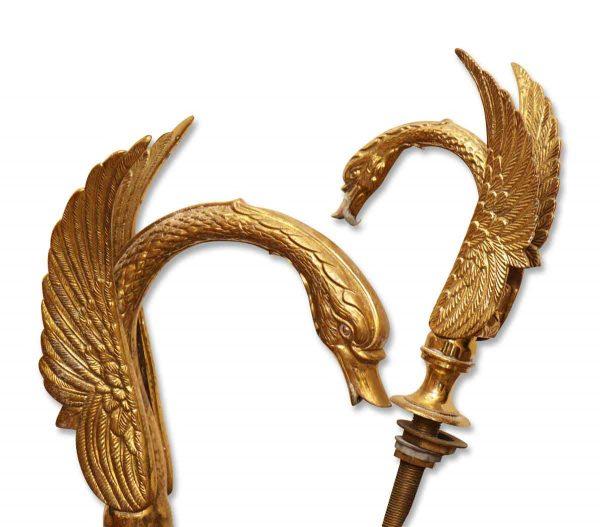 Ornate Cast Brass Swan Sink Faucets - Bathroom