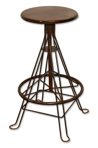 Iron Stool with Wooden Top - Seating