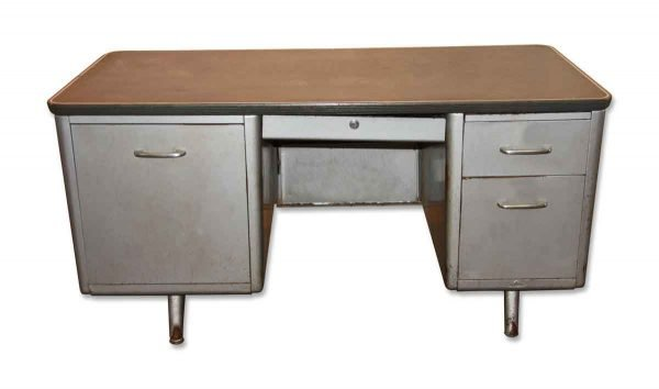 1950s Metal Tanker Desk - Office Furniture
