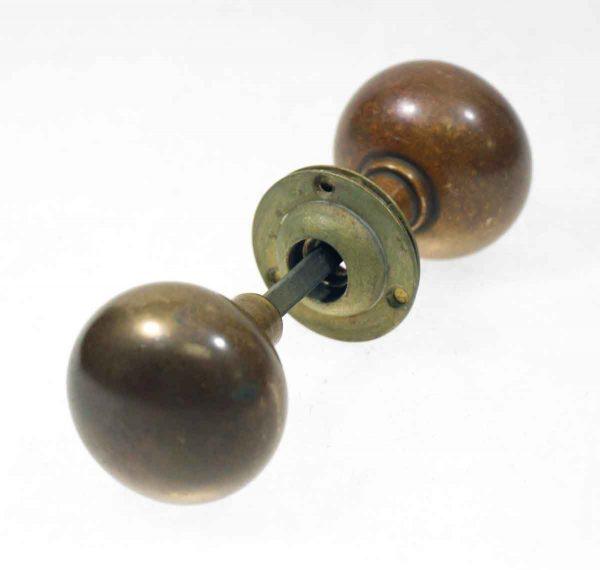 Bronze Round Knob Set - Door Knobs