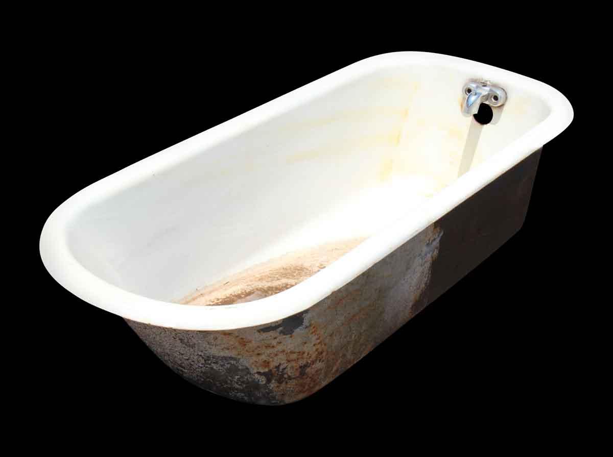 White Porcelain Over Cast Iron Bathtub With Claw Feet   Bathroom