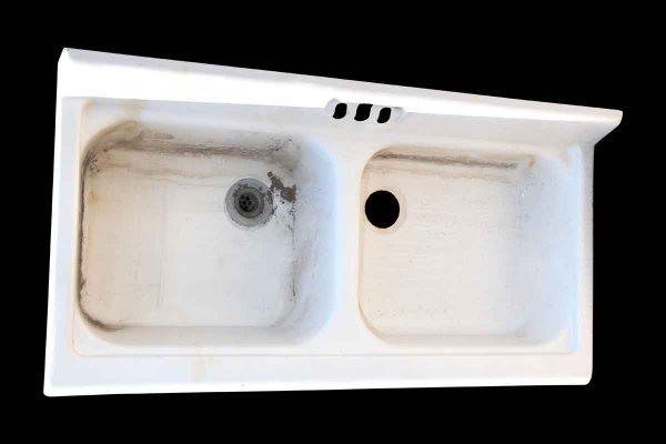 Antique Double Basin Porcelain Sink - Kitchen