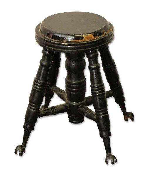 Black Victorian Piano Stool  - Seating
