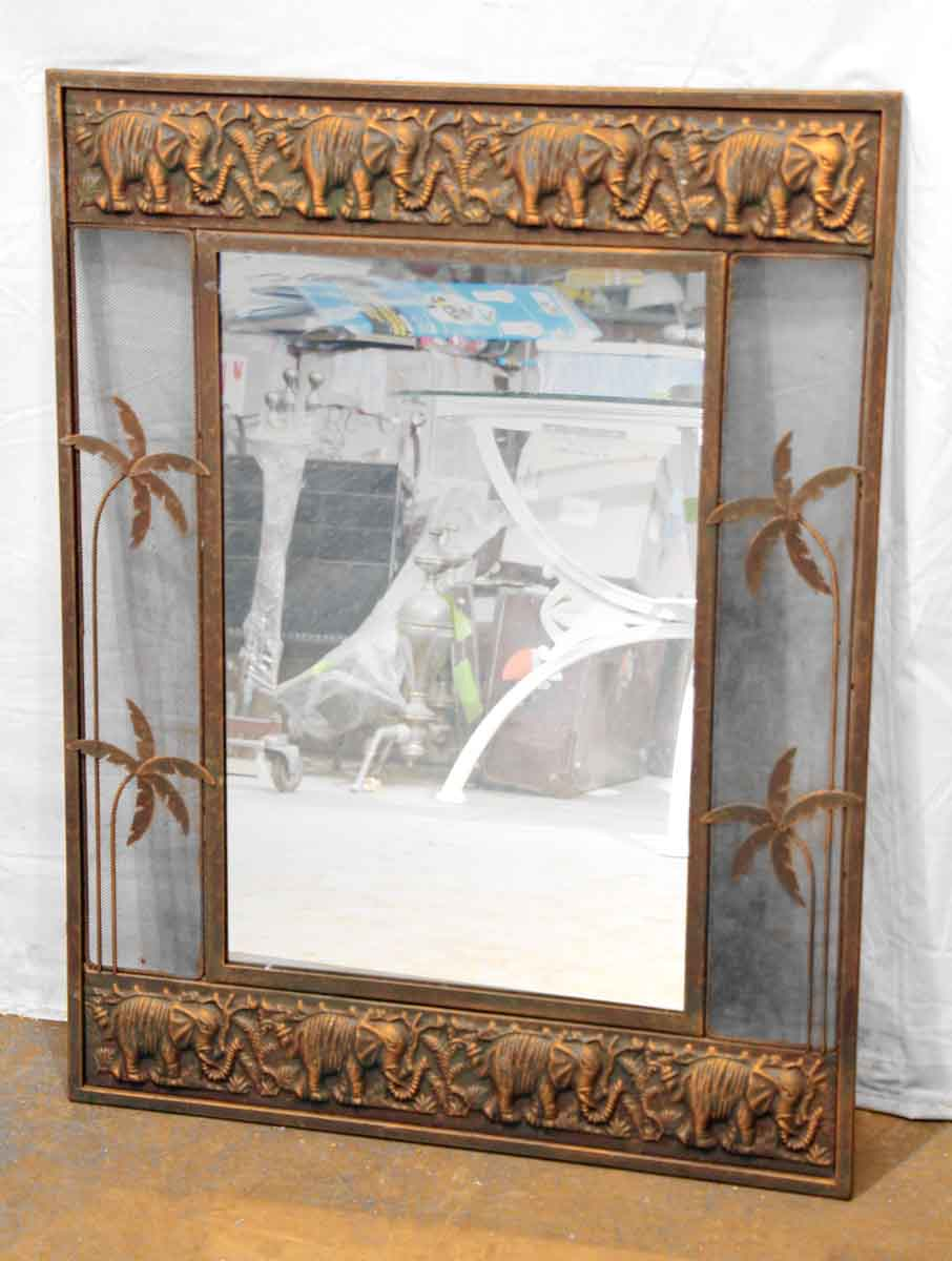 Stamped Copper Elephant Amp Palm Tree Mirror Olde Good Things
