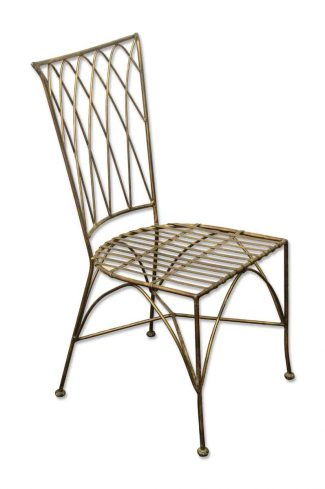Outdoor metal chair Teal Metal Chair Painted Black Home Depot Antique Patio Furniture Olde Good Things