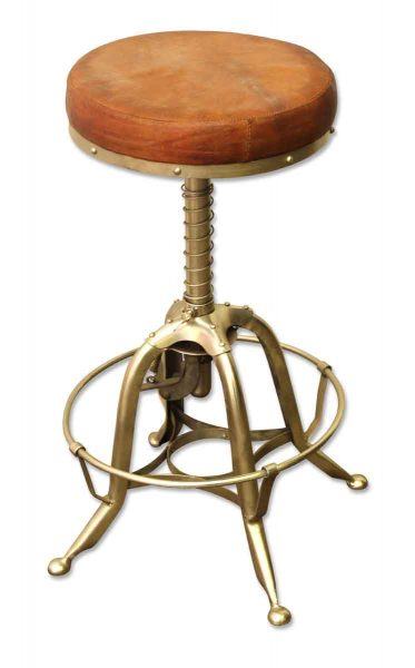 Toledo Stool with Leather Seat - Seating