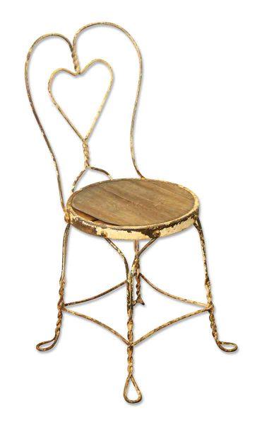 Metal Chair with Heart Shape - Flea Market