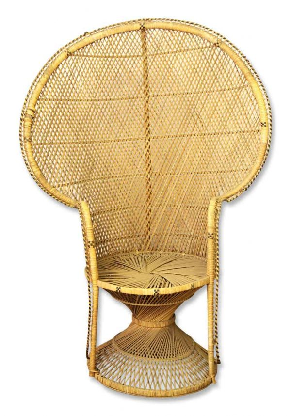 Wicker Fan Back Chair - Seating