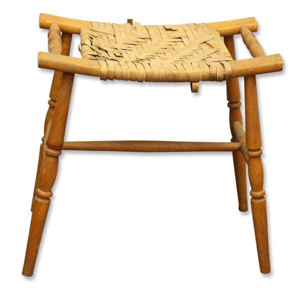 Basket Weave Bench - Flea Market