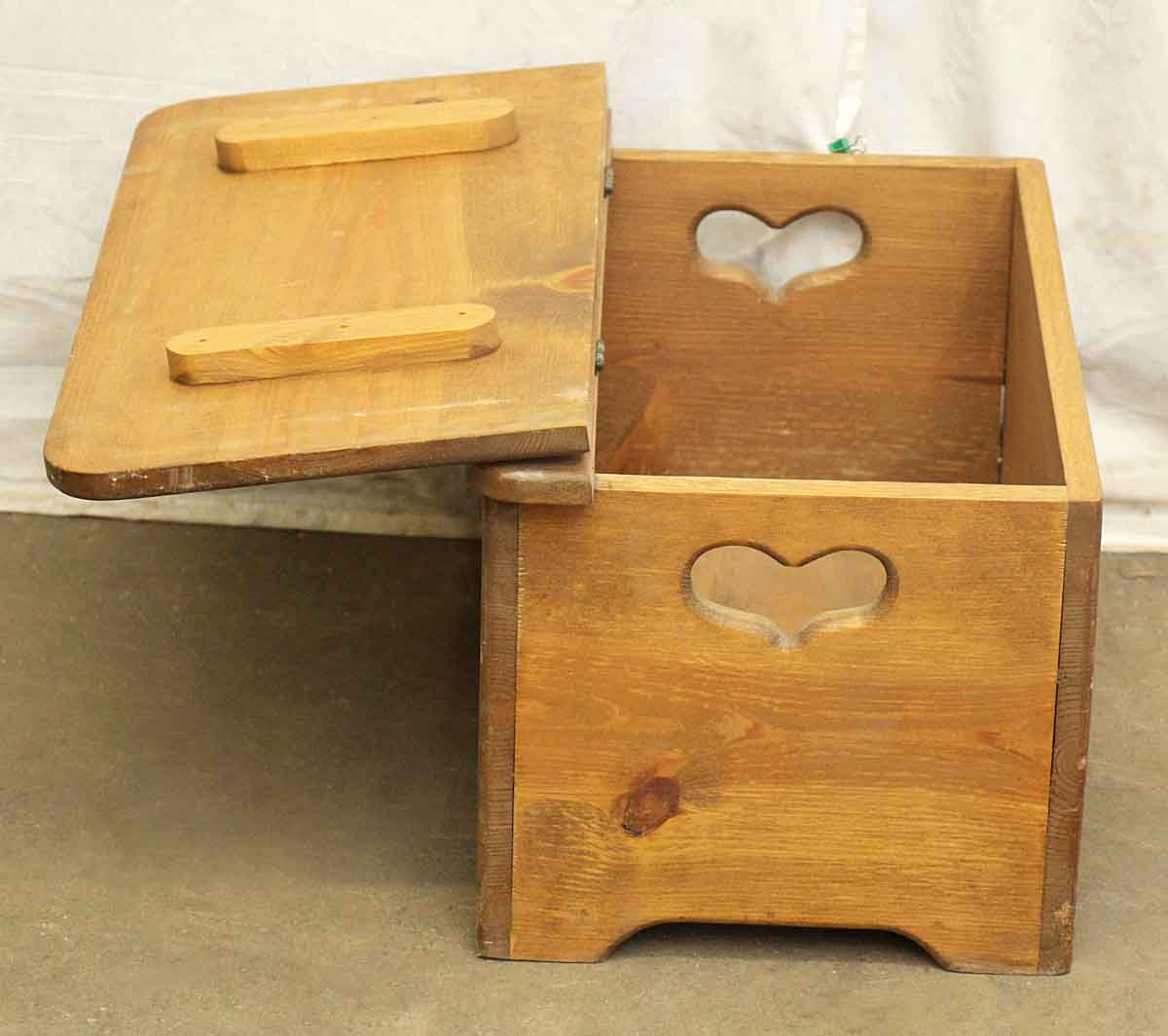 Small Wooden Chest With Heart Detail Olde Good Things
