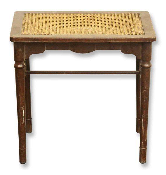 Side Table with Wicker Top - Flea Market