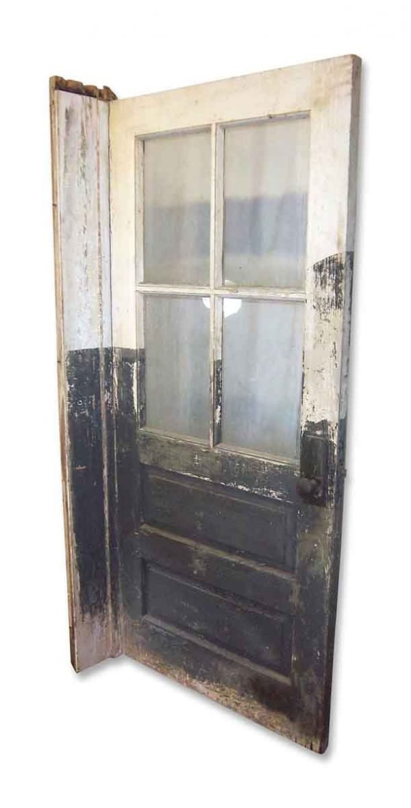 Half Light Industrial Wooden Door - Commercial Doors