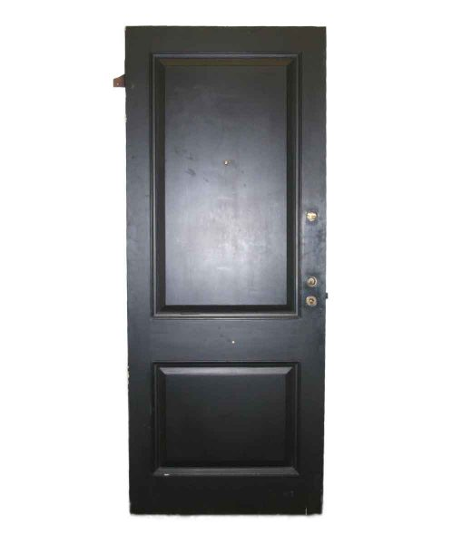 Two Panel Black Wooden Door - Standard Doors