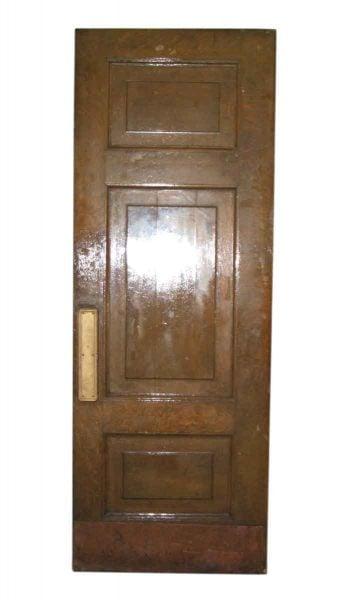 Thick Antique Oak Doors with Original Push & Pull Plates - Standard Doors