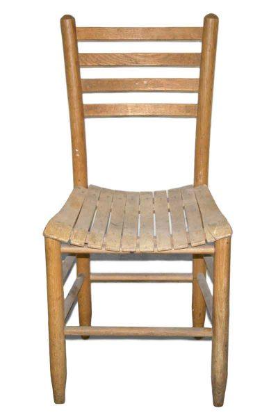 Slatted Seat Chair - Flea Market
