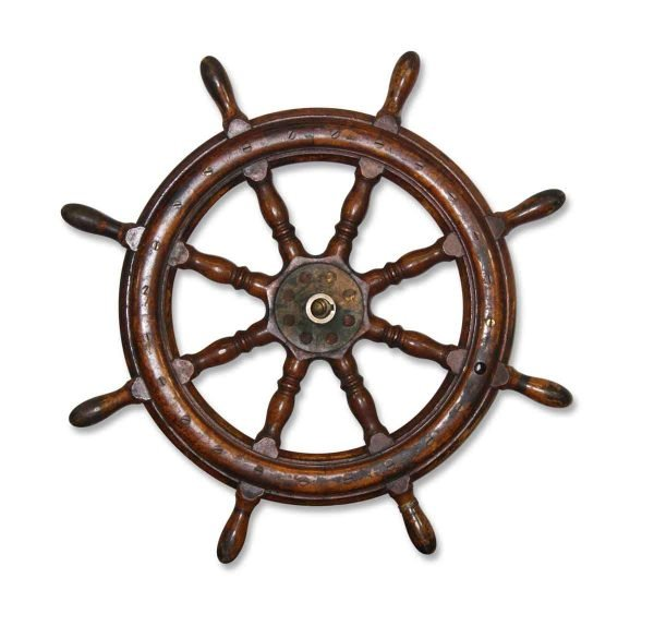Wooden Ship Wheel - Nautical Antiques