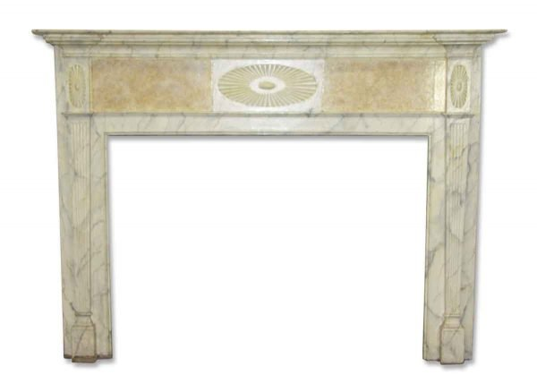 Georgian Mantel with Faux Marble Finish - Mantels