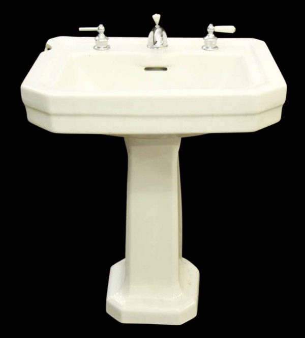 Sink with Chrome Hardware - Bathroom