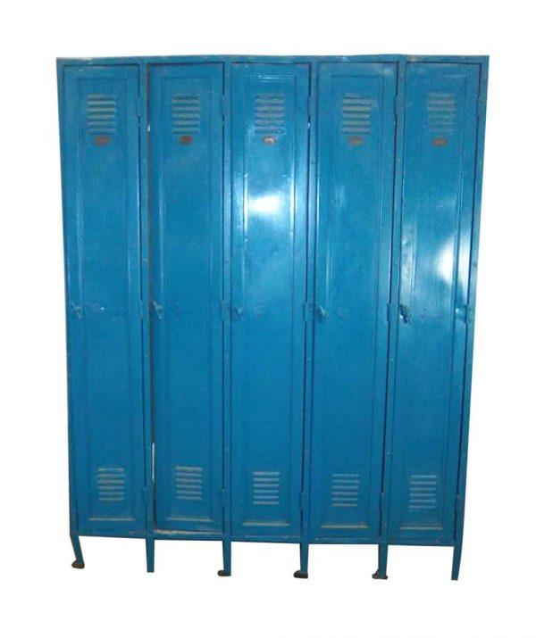 Bright Blue Metal Lockers - Industrial