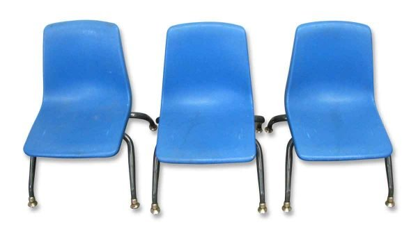 Blue School Chairs - Flea Market