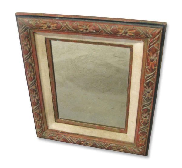 Carved Wood Framed Mirror - Antique Mirrors